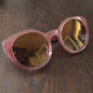 Diff Eyewear Accessories - DIFF Luna Quartz Glitter Polarized Lens Sunglasses